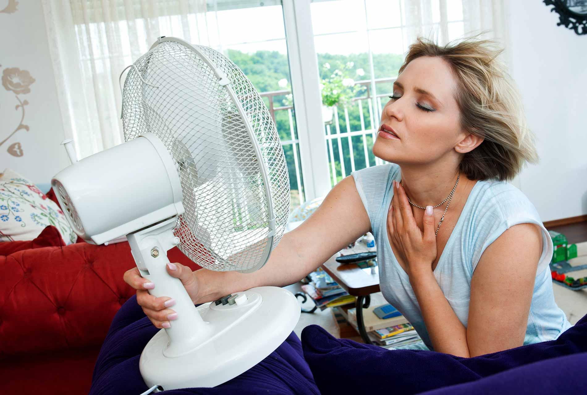Abkühlung durch Ventilator - mobile Klimageräte